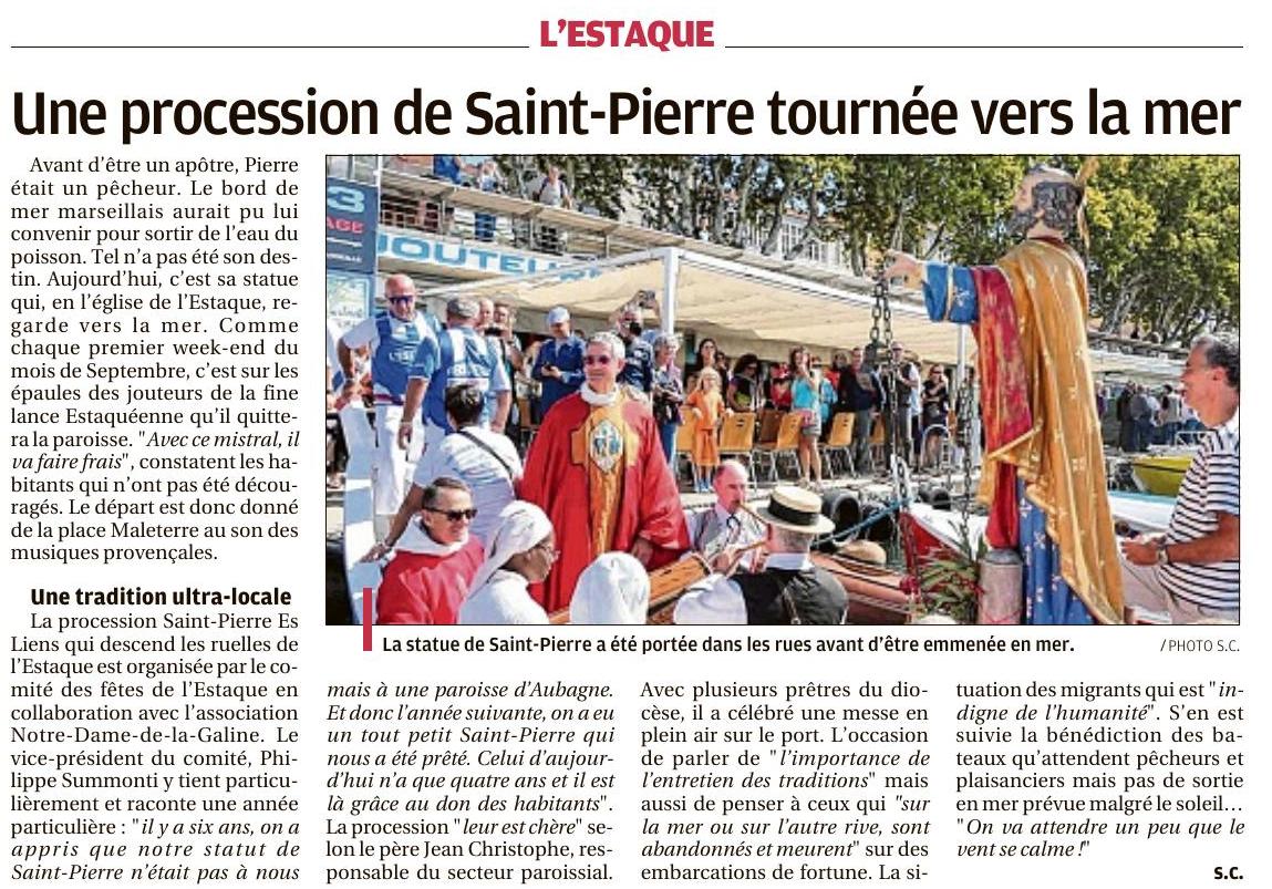 La Provence du 3 Septembre 2017