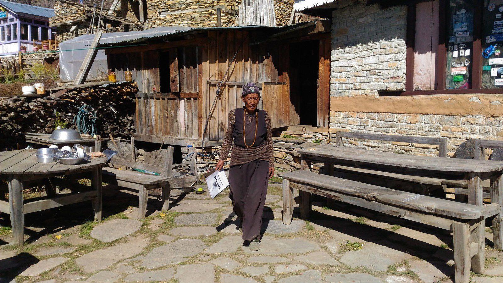 villages népalais autour des Annapurnas