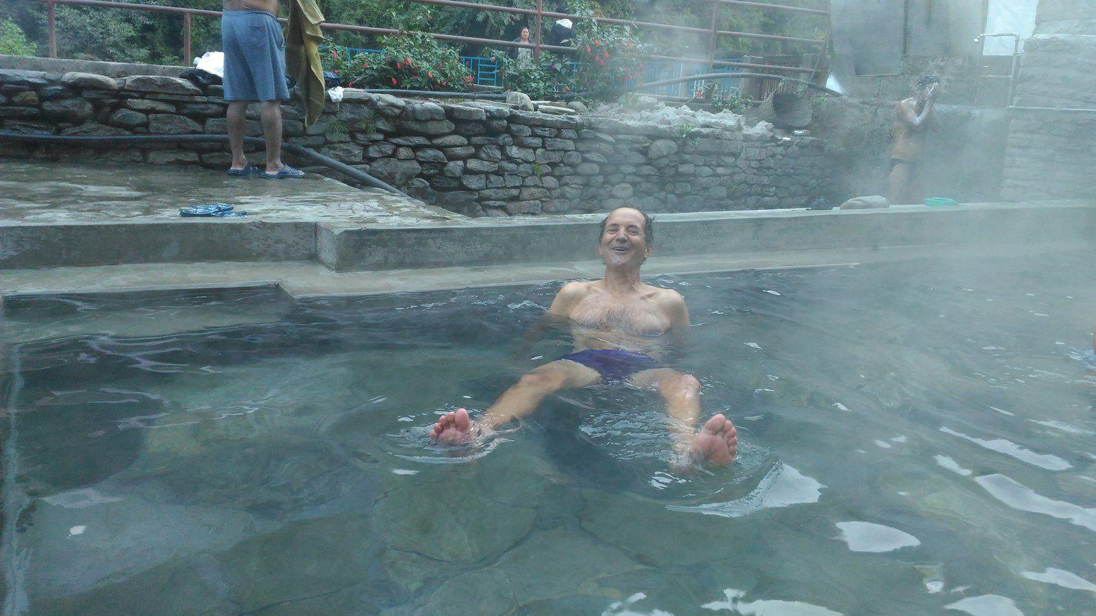 Tatopani et ses hots springs : quel délice pour les pieds après une journée de 50 kilomètres !