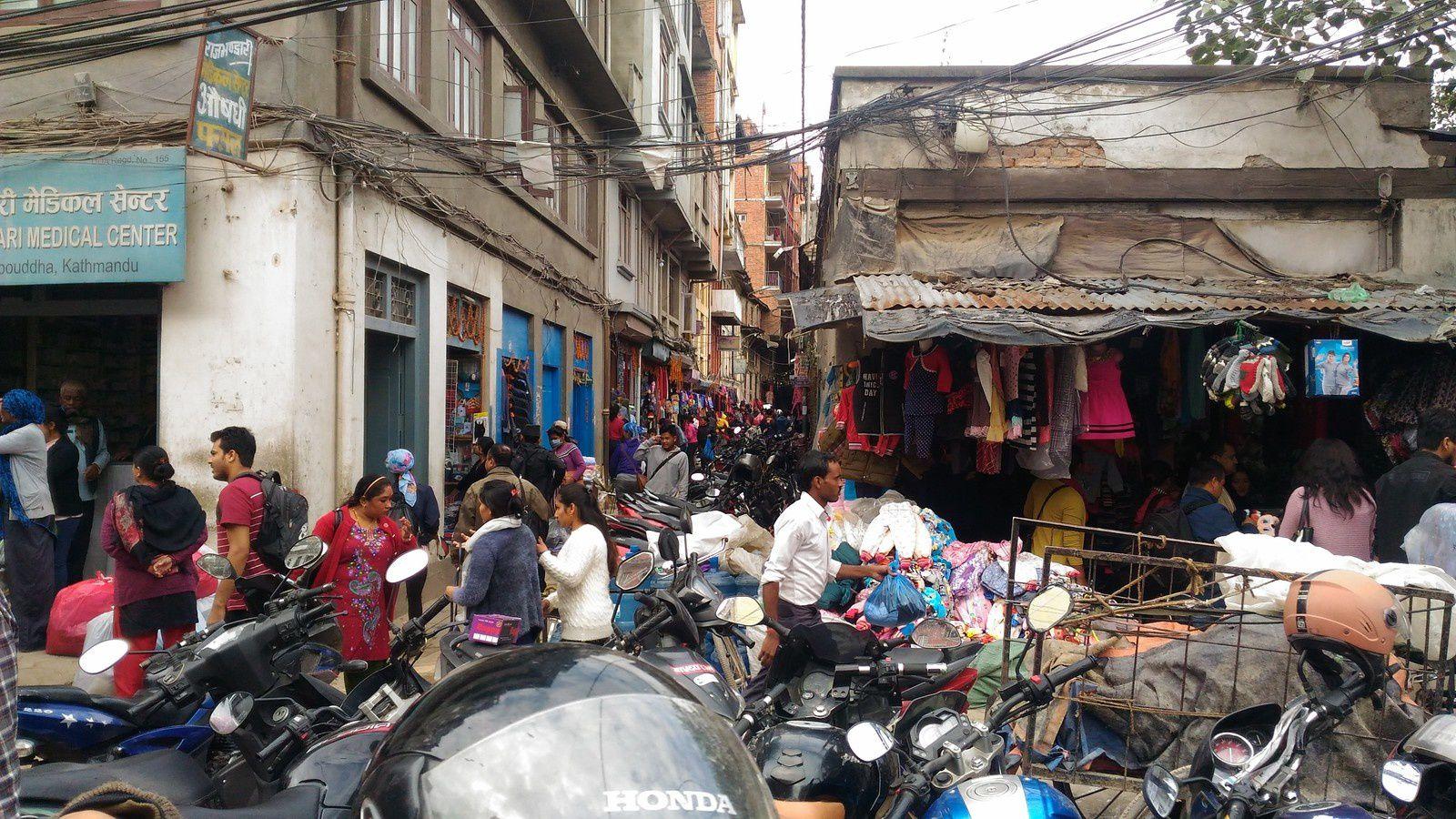 Kathmandou , le quartier de Thamel - 2017