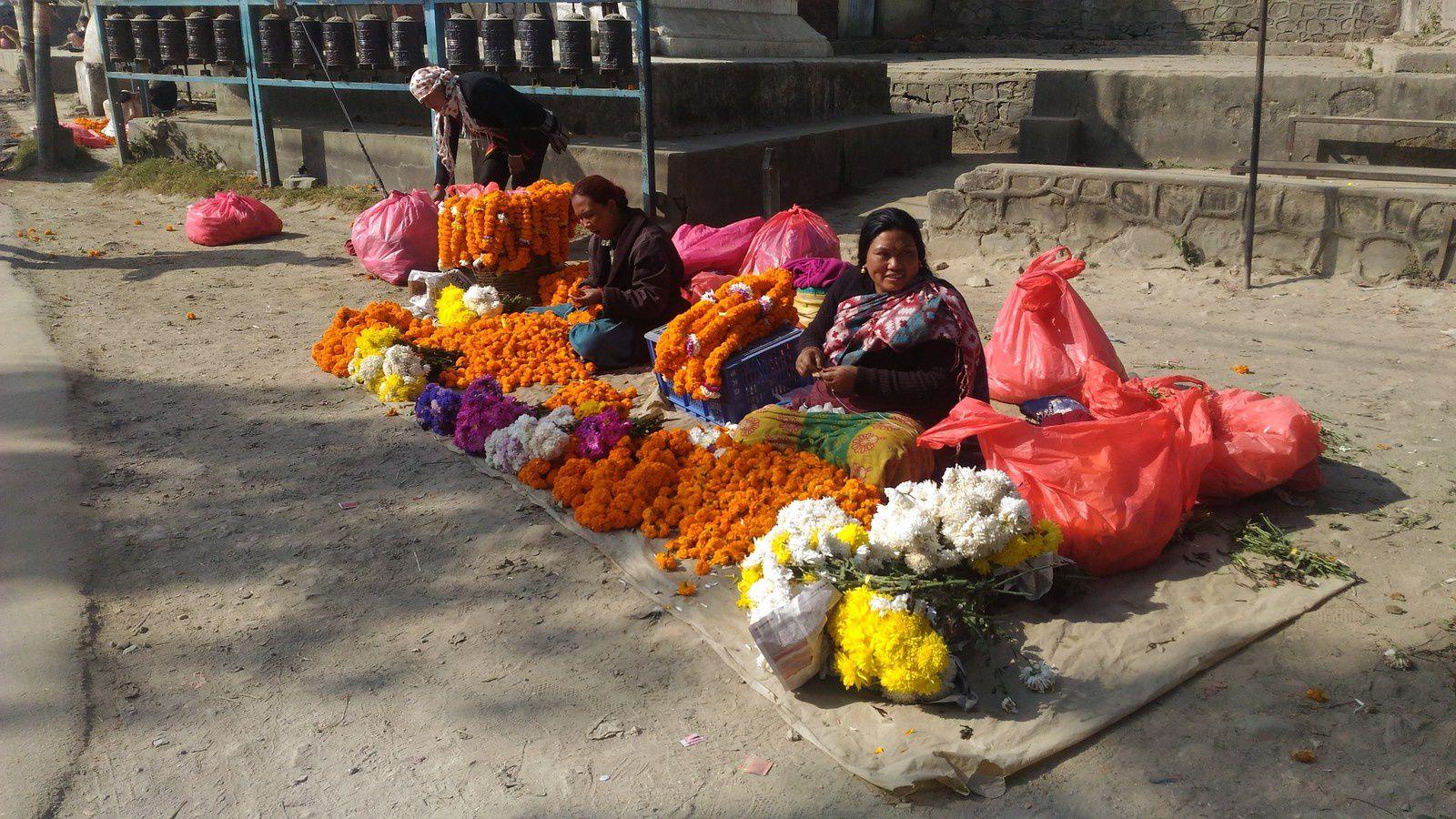 Fleurs comme offrandes