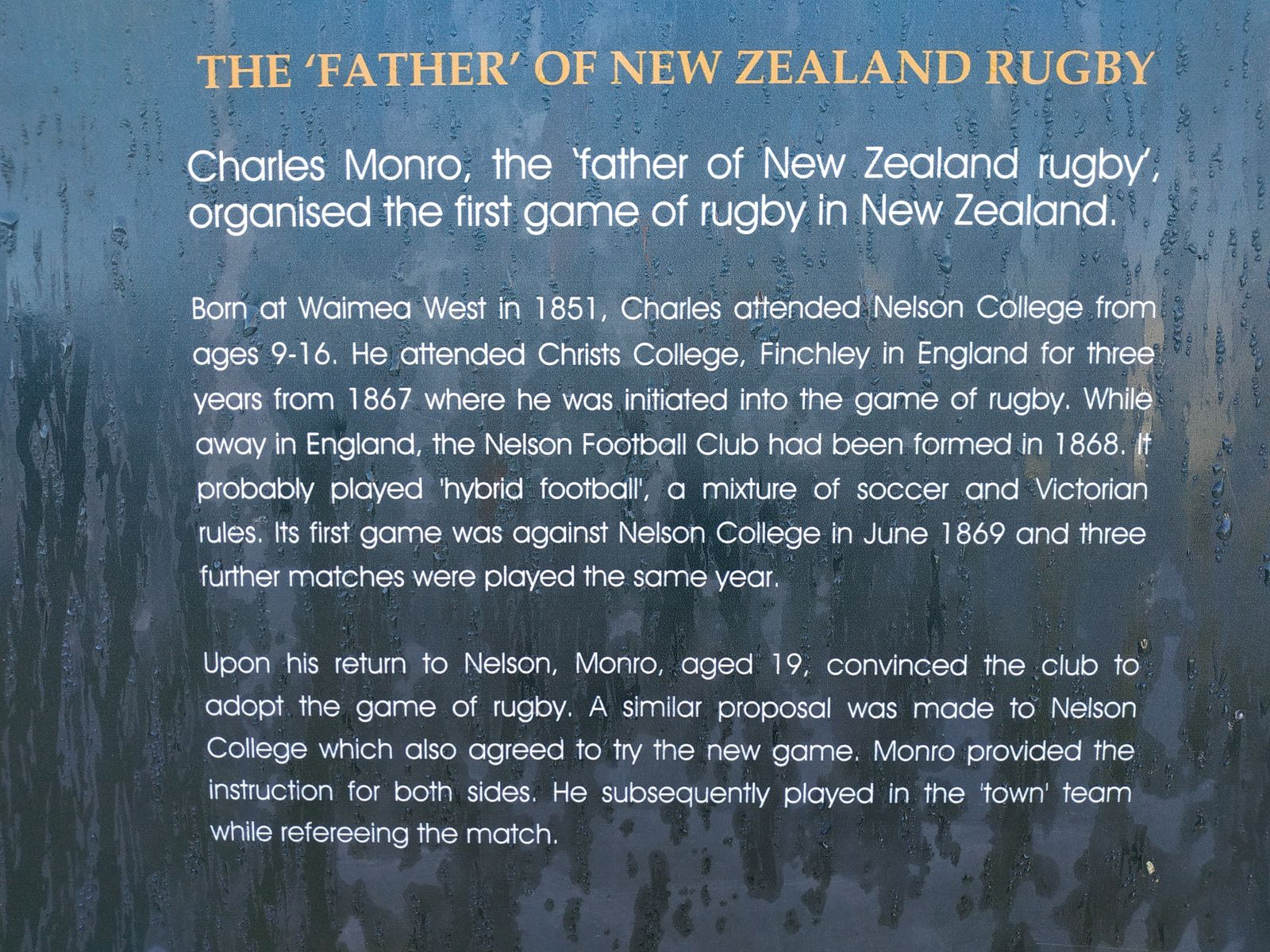 father of New zealand Rugby