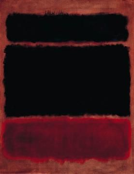 "Mark Rothko ""Black in deep red"" 176.2 × 136.5 cm 1957"