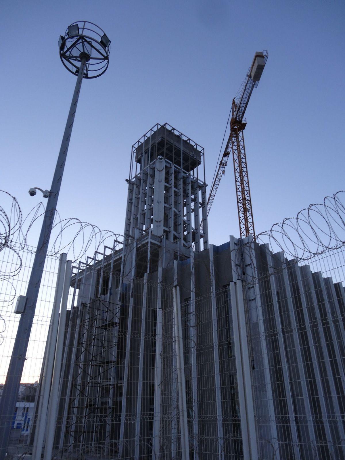 Le chantier de la nouvelle Tour de contrôle du Port de Tanger