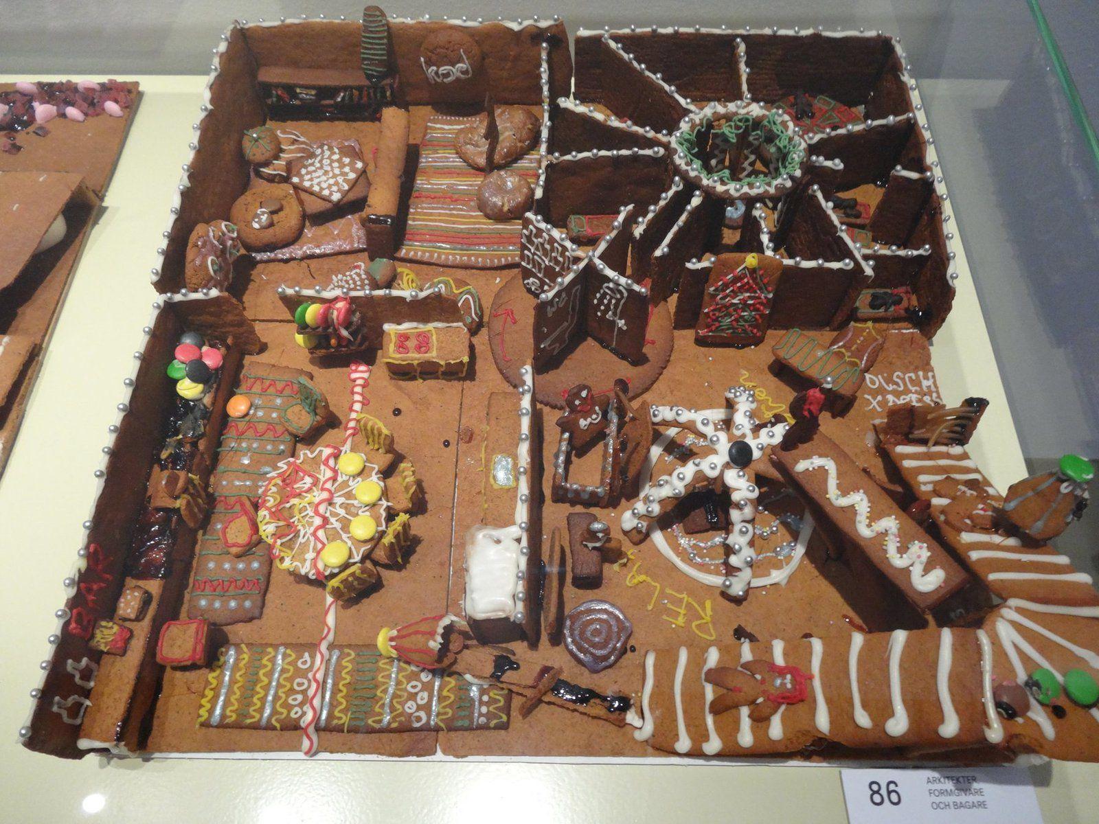 Concours de Maisons en gâteaux et bonbons au Moderna Museet de Stockholm (11 photos)