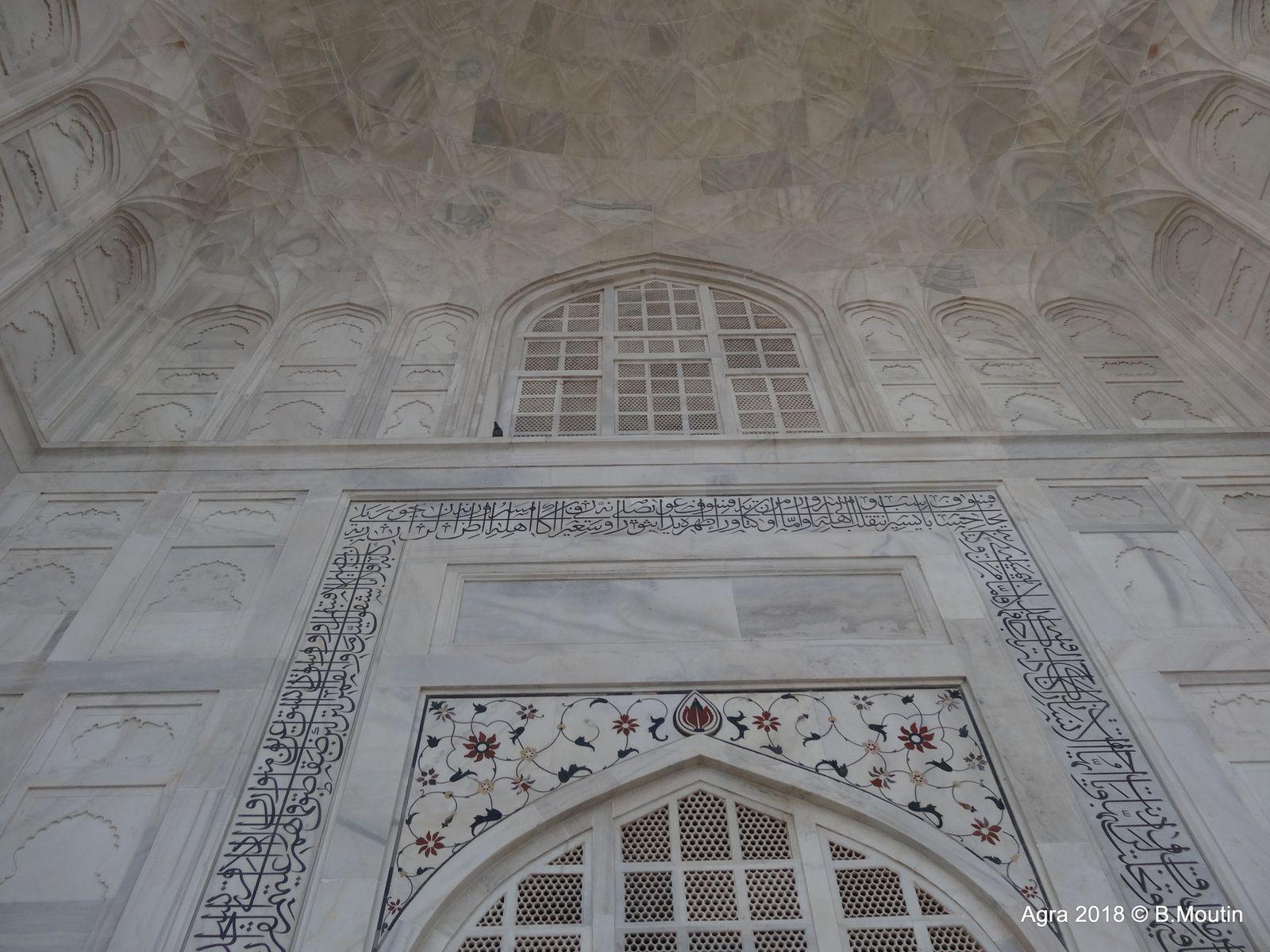 Zoom sur le TAJ MAHAL à Agra