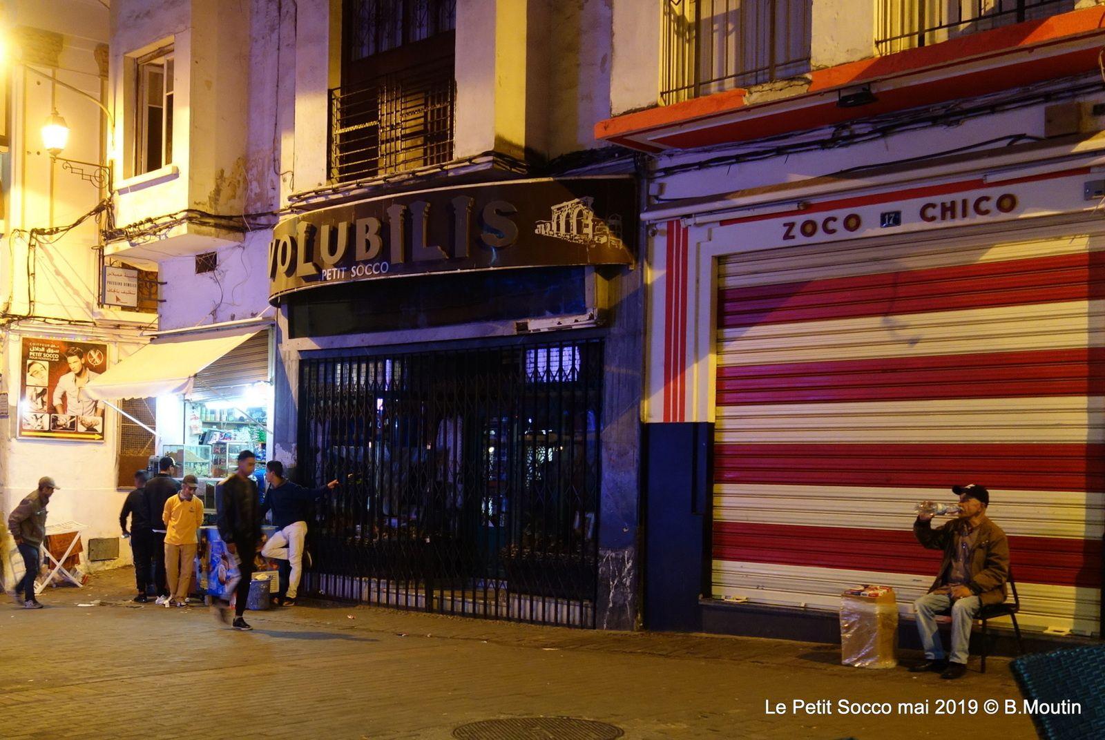 Les lumières de la nuit au Petit Socco à Tanger (4 photos)