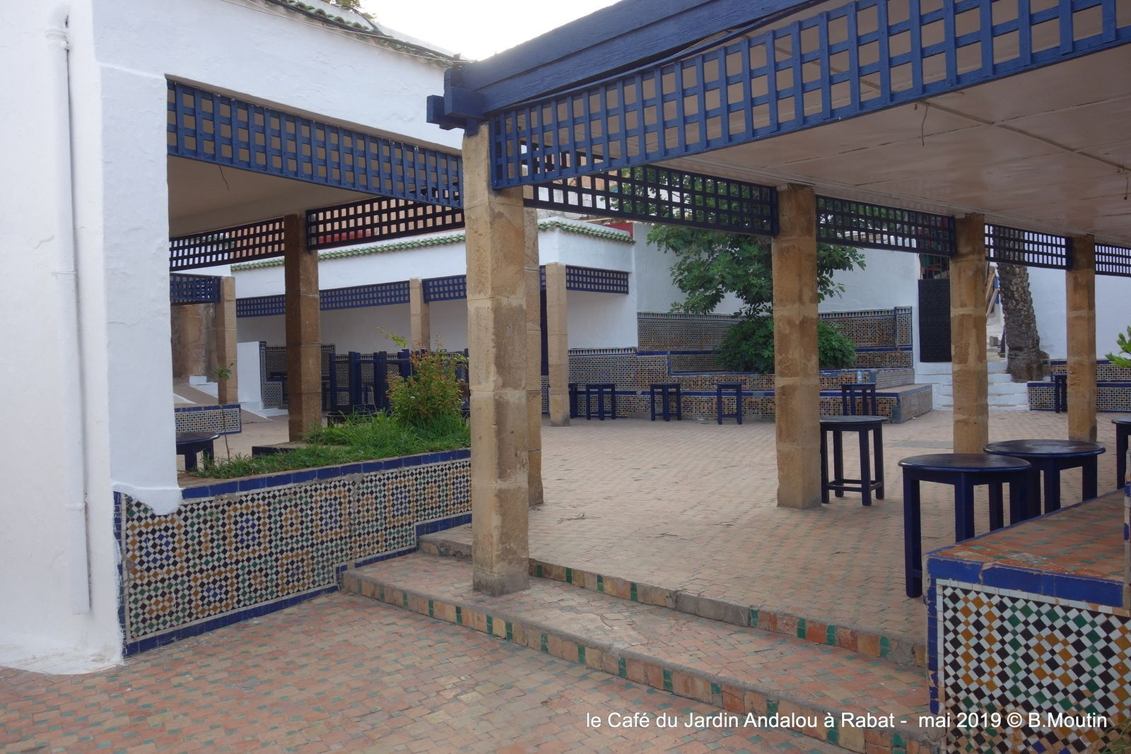 Le Café du jardin des Andalous à Rabat
