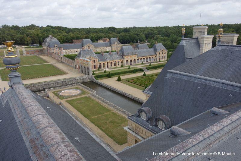 Vaux le Vicomte vu de la rotonde du château