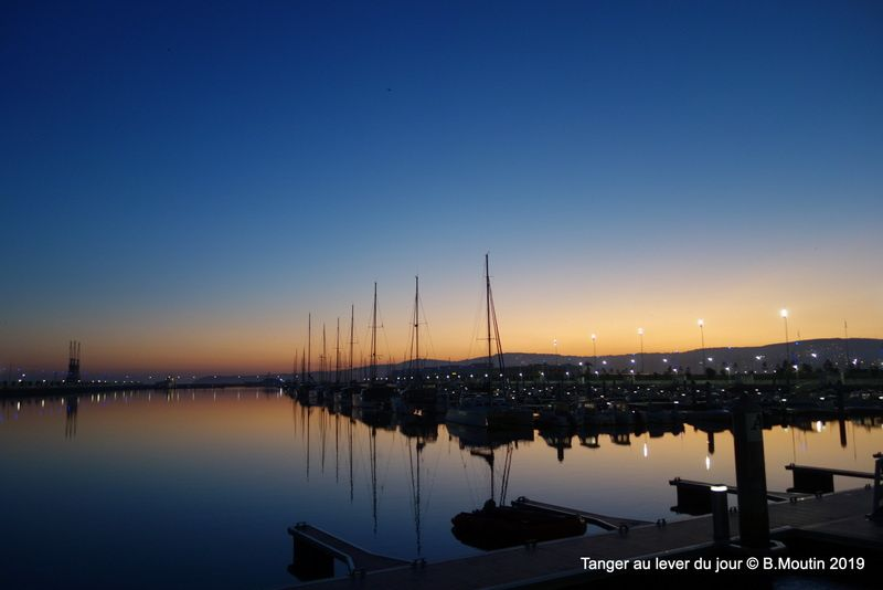 La marina de Tanger au lever du jour (9 photos à cliquer)