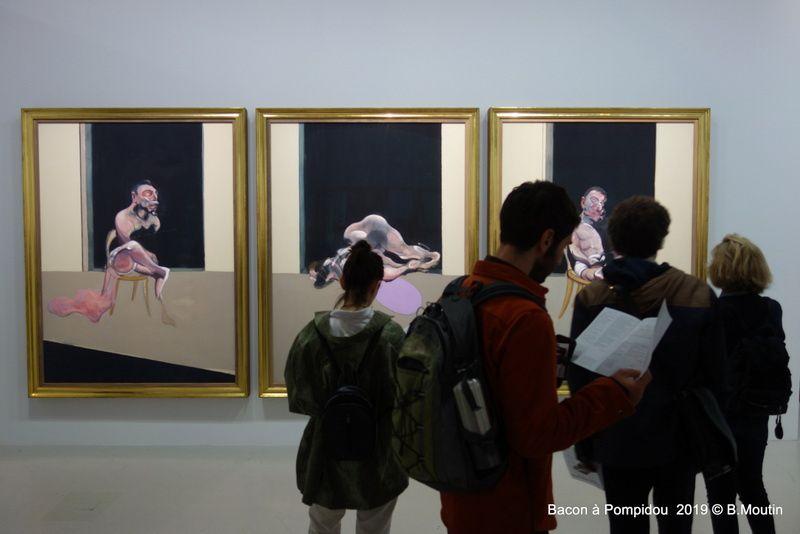 La visite de l'exposition Bacon au Centre Pompidou à Paris jusqu'au 20 janvier 2020 (16 photos)