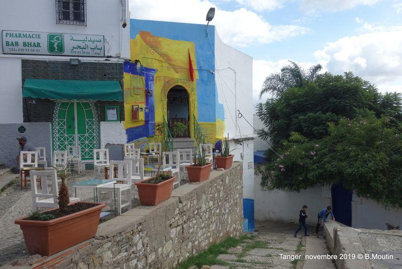Une terrasse de café dans la Médina de Tanger