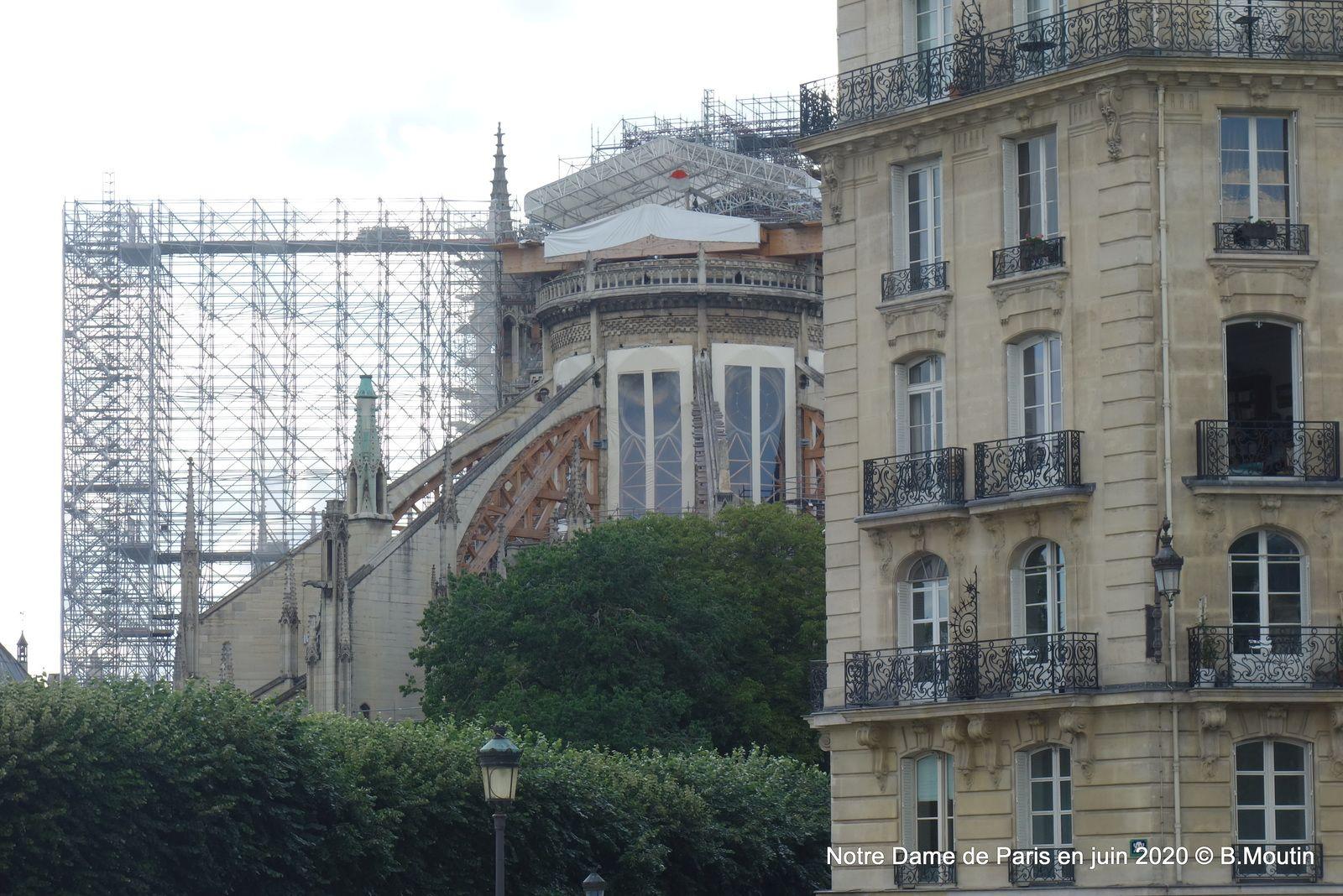 Notre Dame de Paris en travaux (5 photos de juin 2020)