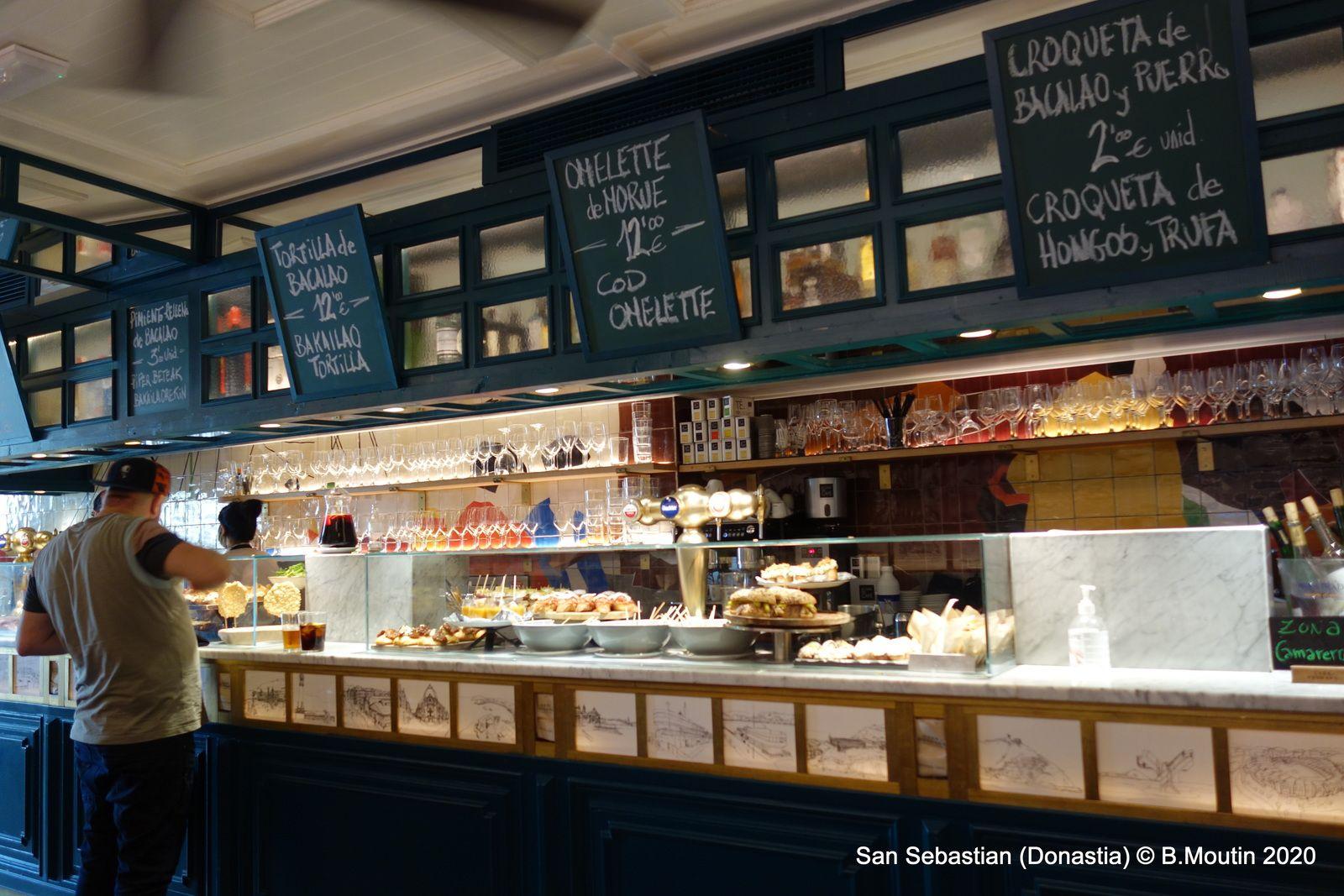 Bar à pintxos (tapas) de San Sebastian
