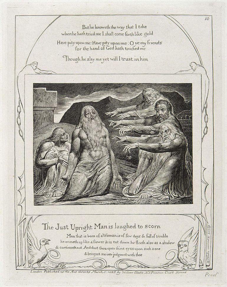 Illustration du Livre de Job par William Blake (1757-1827) copyright The William Blake Archive