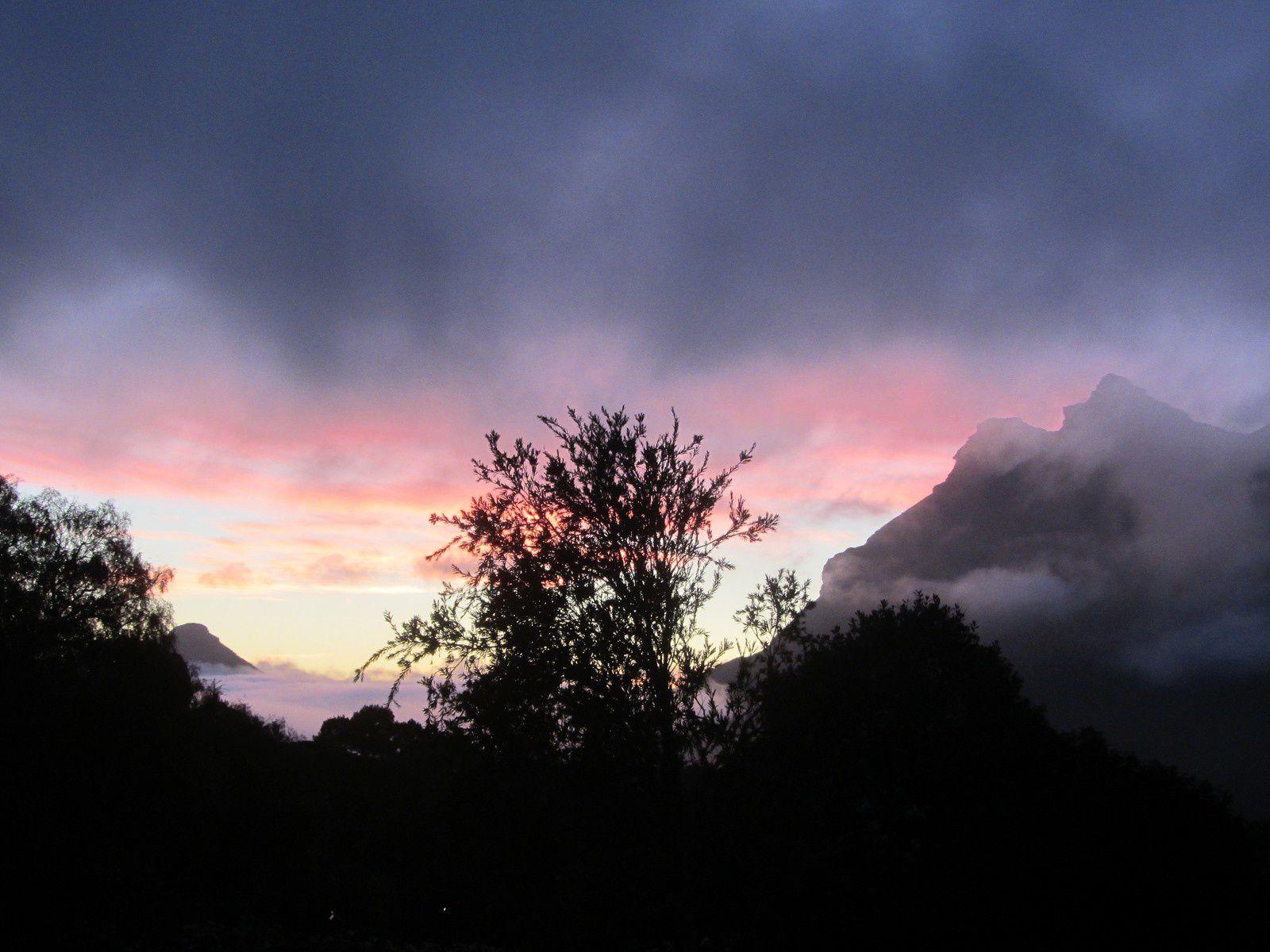 Coucher de soleil en Afrique du sud