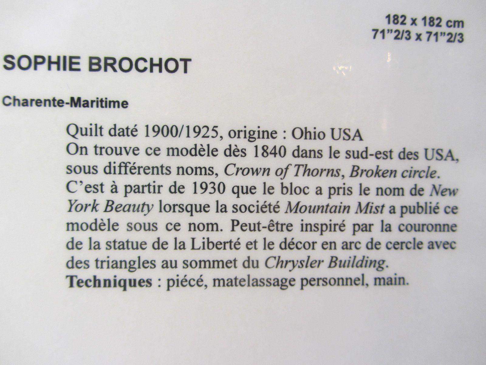3-Brouage. Quilts de légende.