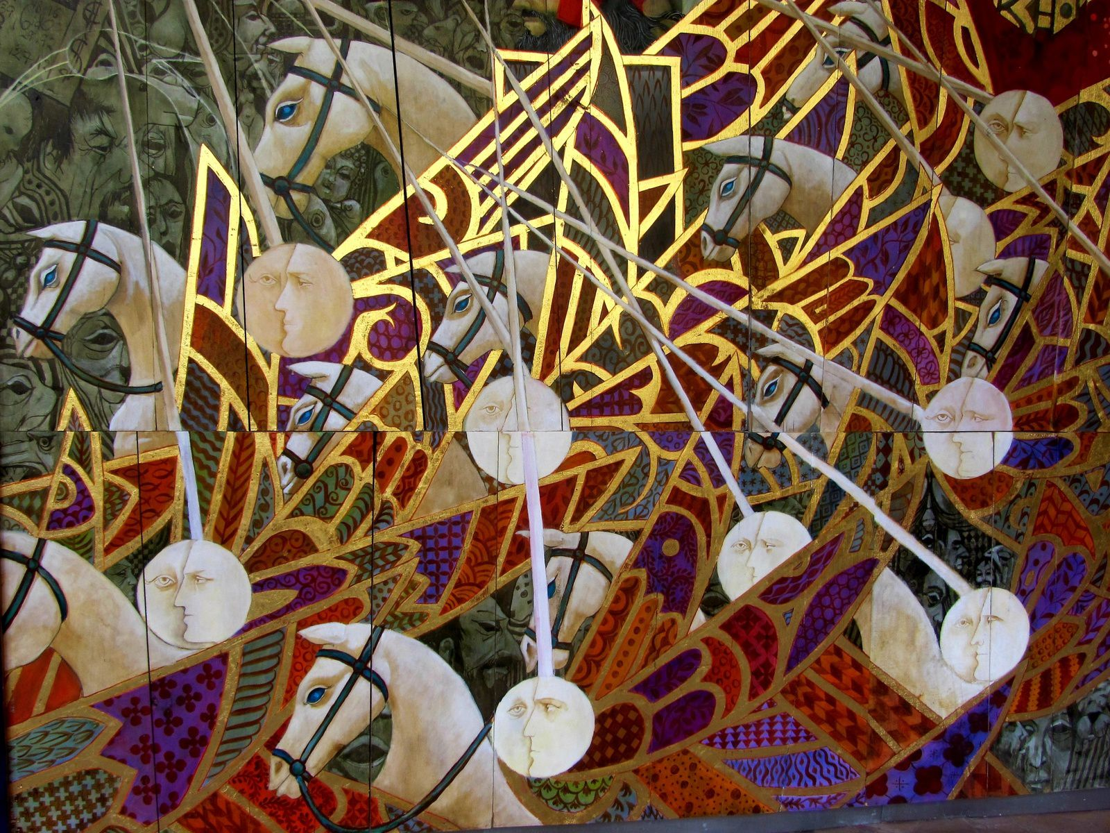 la fresque de l'apocalyse à Saint Emilion