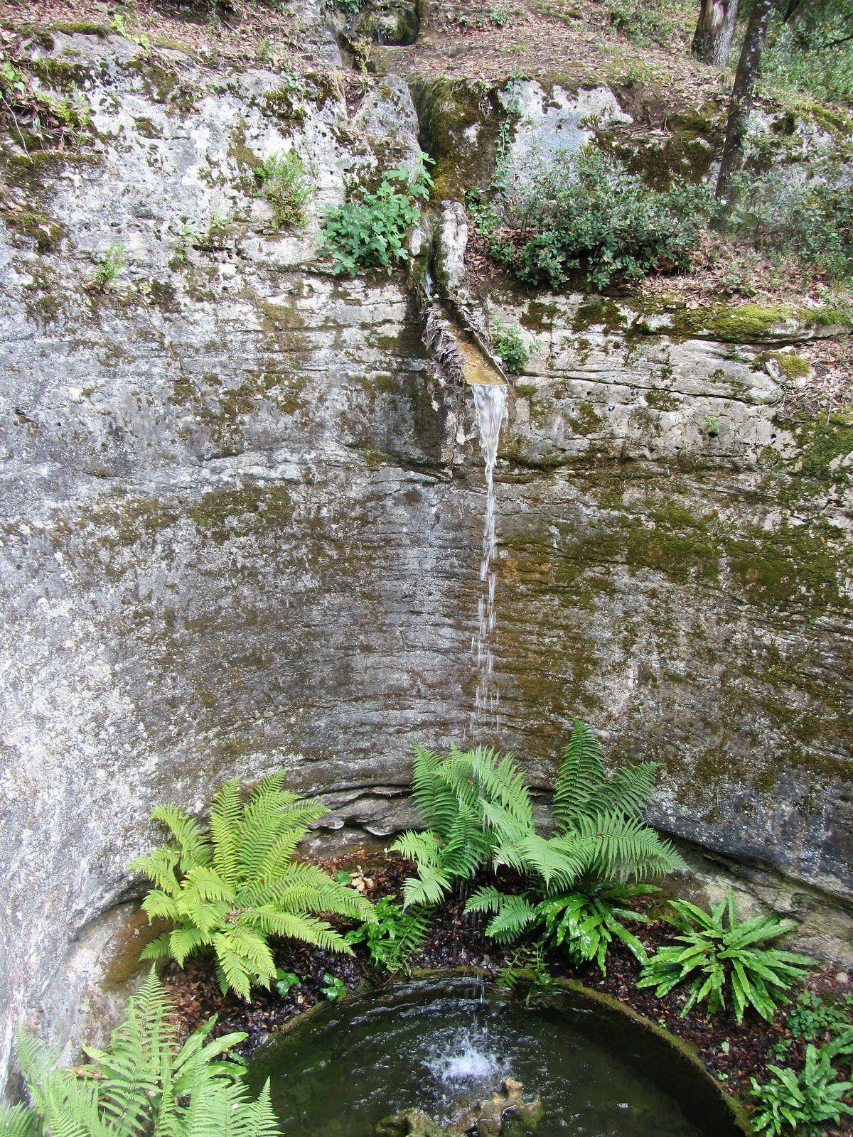 La nature peut par sa force et avec du temps créer ce genre de bassin naturel creusé dans la pierre. En effet autrefois souterraine l'eau par la force des crues a modeler les parois d'une grotte, puis après érosion, une partie de la paroi s'est détachée, dévoillant la cuvette parfaitement sculptée.