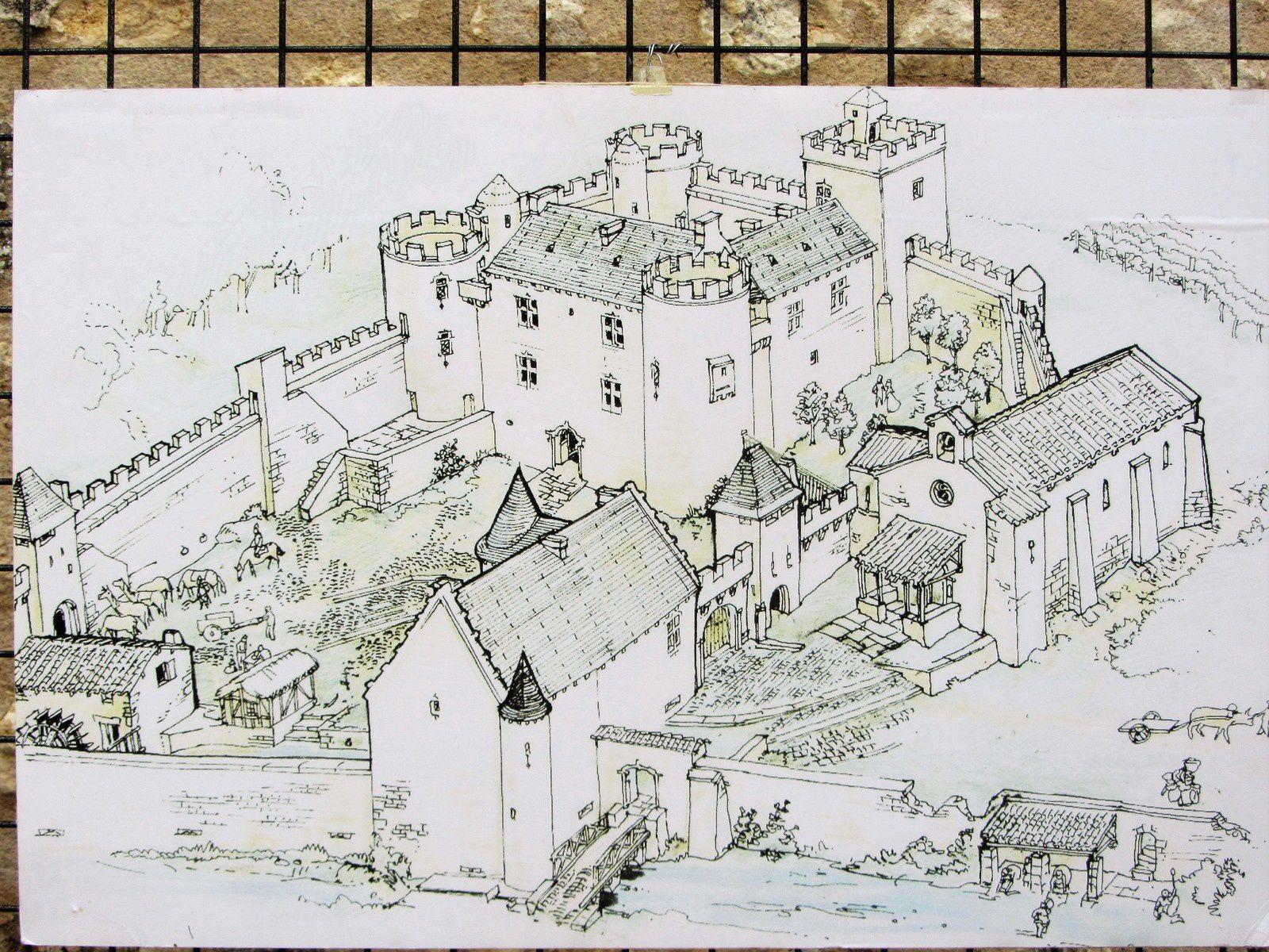 A Pranzac se trouve les vestiges d'un château féodal.