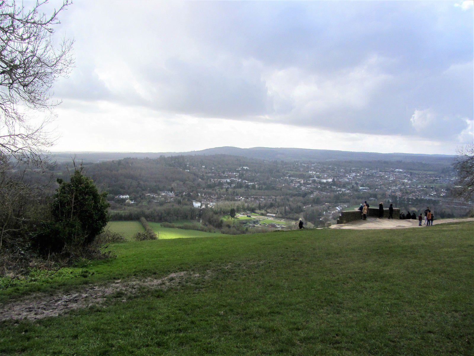 """La colline tire son nom des box trees, les buis toujours vert, que l'on trouve sur ses flancs. C'est un endroit réputé pour sa beauté, ce qui lui a valu de nombreuses références en littérature. Comme par exemple, dans les romans de Jane Austen. (l'auteur """"D'orgueil et préjugés"""")"""