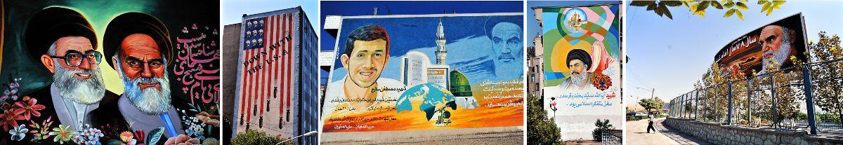 IRAN - Fresques murales de Téhéran