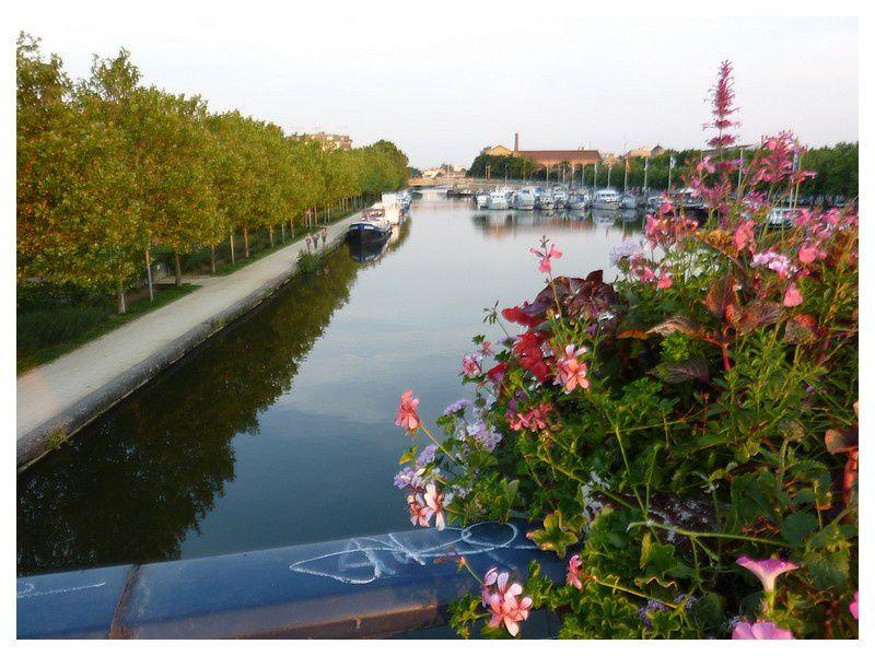 bassin près des jardins d'eau, canal