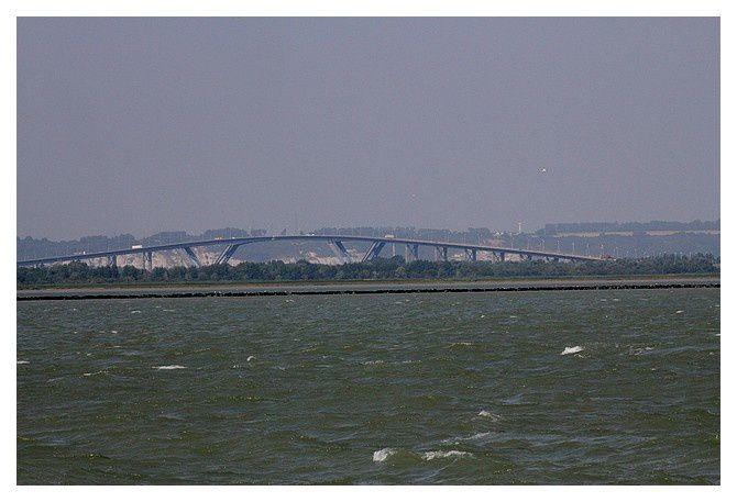Honfleur, Pont de Normandie, juillet 2013