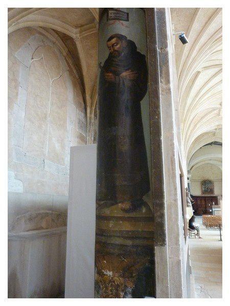 fresque sur une colonne de l'église