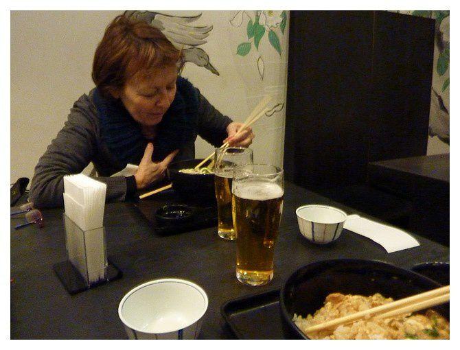 soupe traditionnelle japonaise ! dans un des restaurants de l'immense centre commercial de la gare de Kyoto