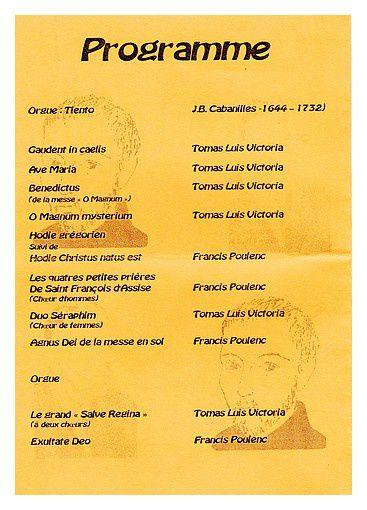 Tomas Luis Victoria / Francis Poulenc ; concert 5 juin 2014