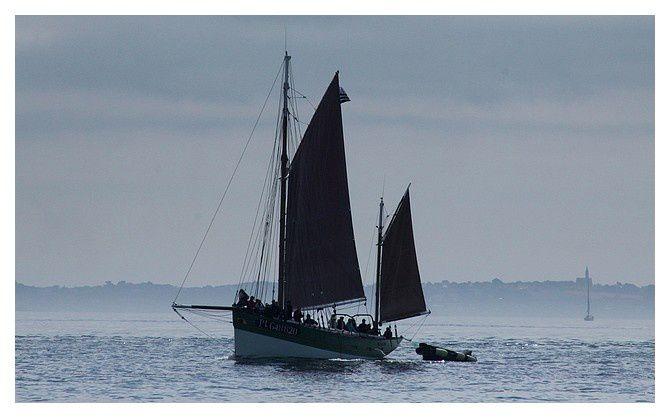 un voilier traditionel