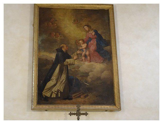 la vierge remet le rosaire à St Dominique de  Jean Suau;  1er moitié du XIX e Siècle
