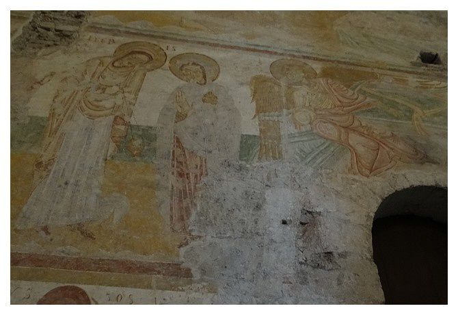 fresque : Partie inférieure du cycle de la résurrection