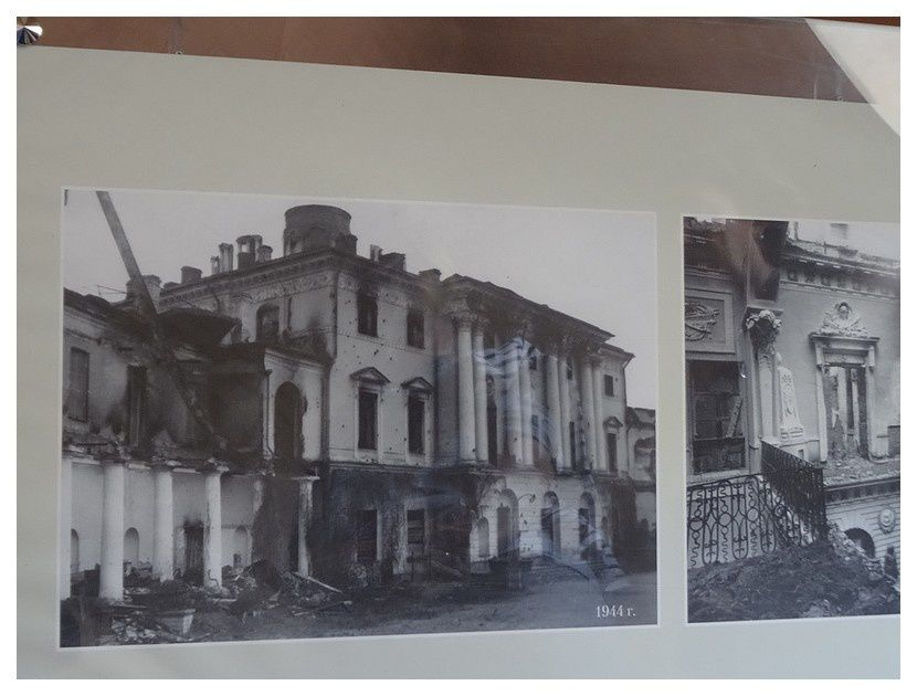 après les bombardements   1944