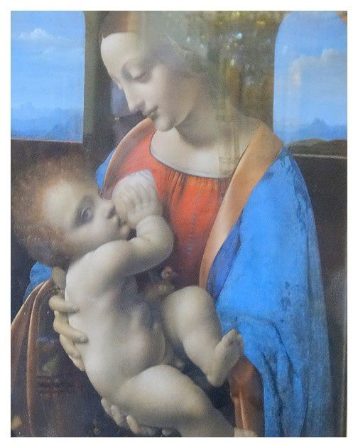 Leonard de Vinci (1452-1519) — Madonna Litta, c.1490