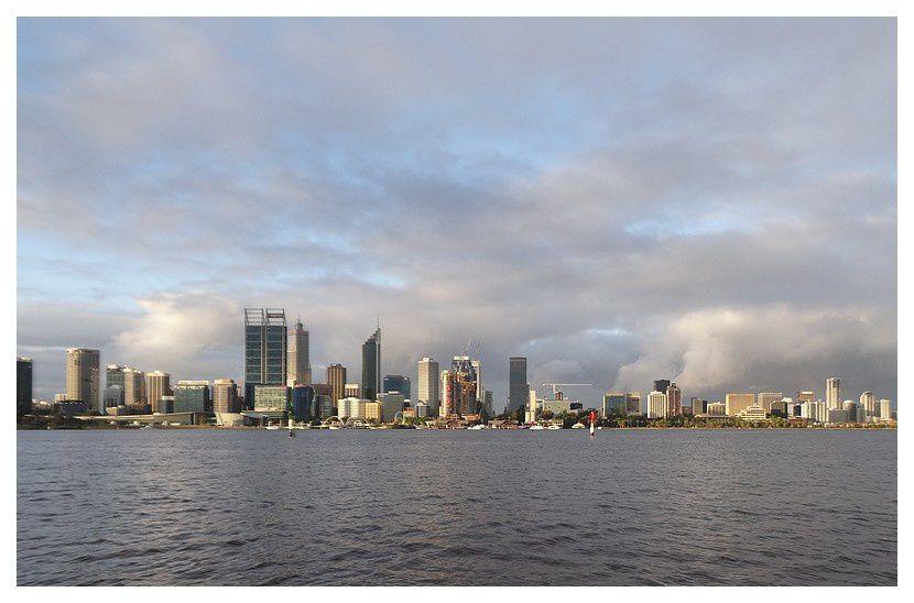 vue depuis Perth Sud .. La Swan River
