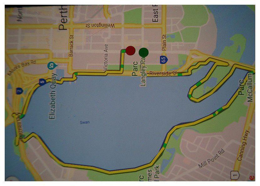 entrainement course à pied -1- à Perth Australie