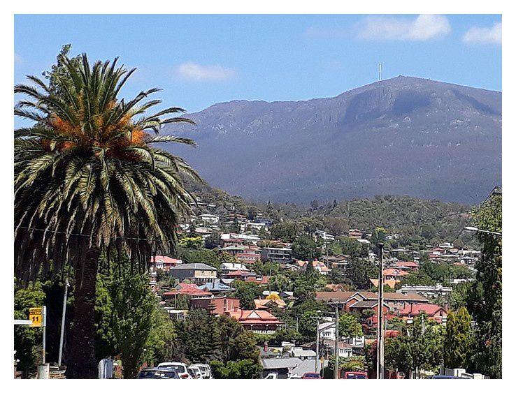 et à 500 m de l'hôtel, une dernière photo sur le mont Wellington