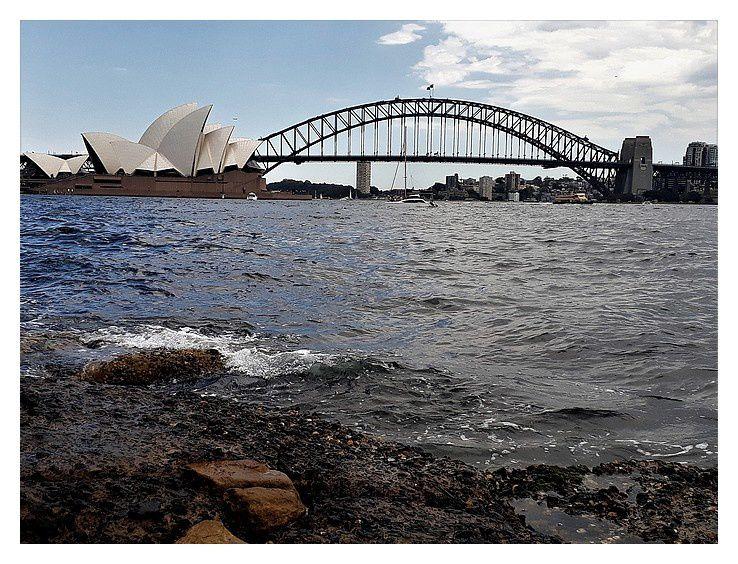avec le pont : Sydney harbour bridge, d'une seule arche