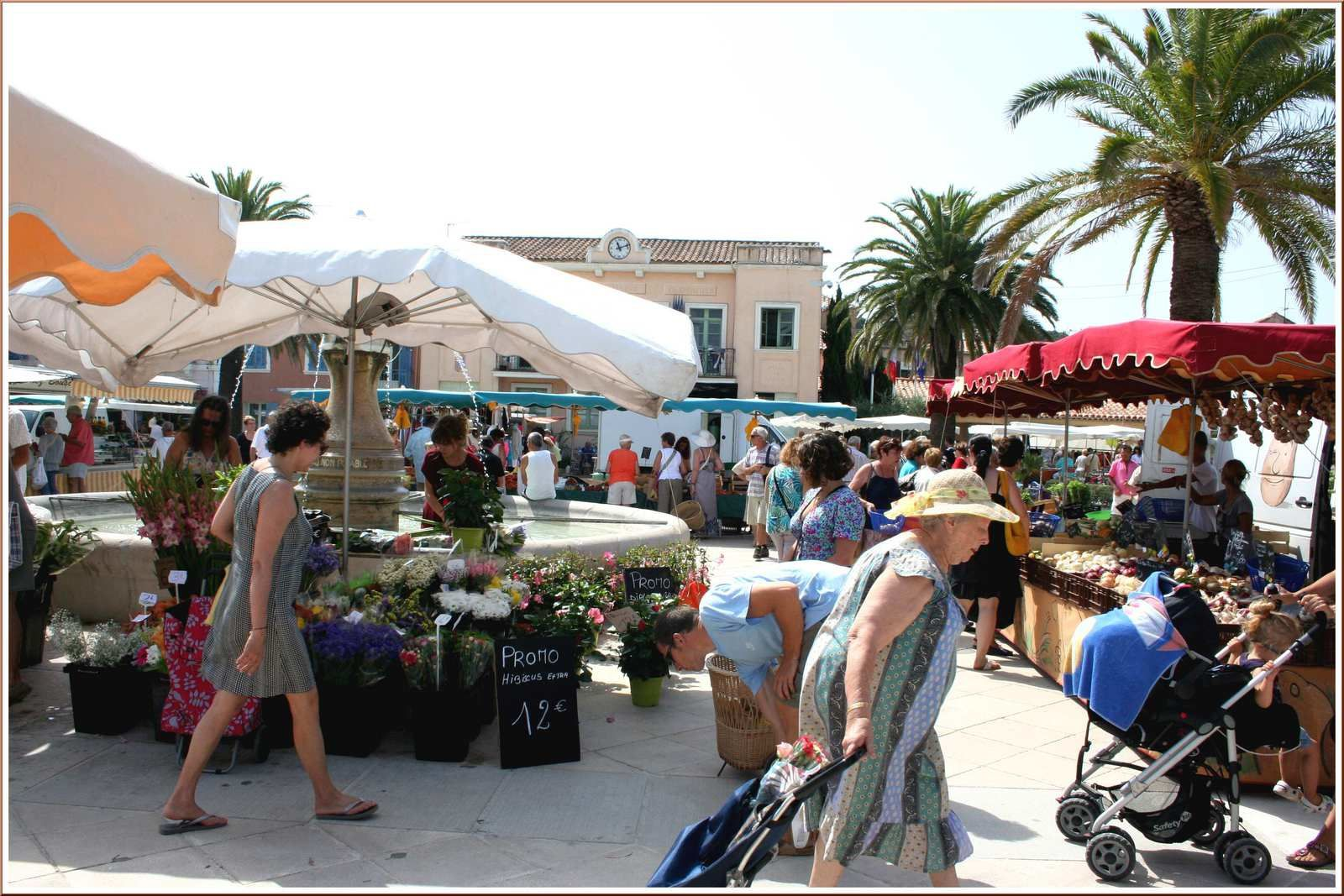 Le marché du samedi matin...