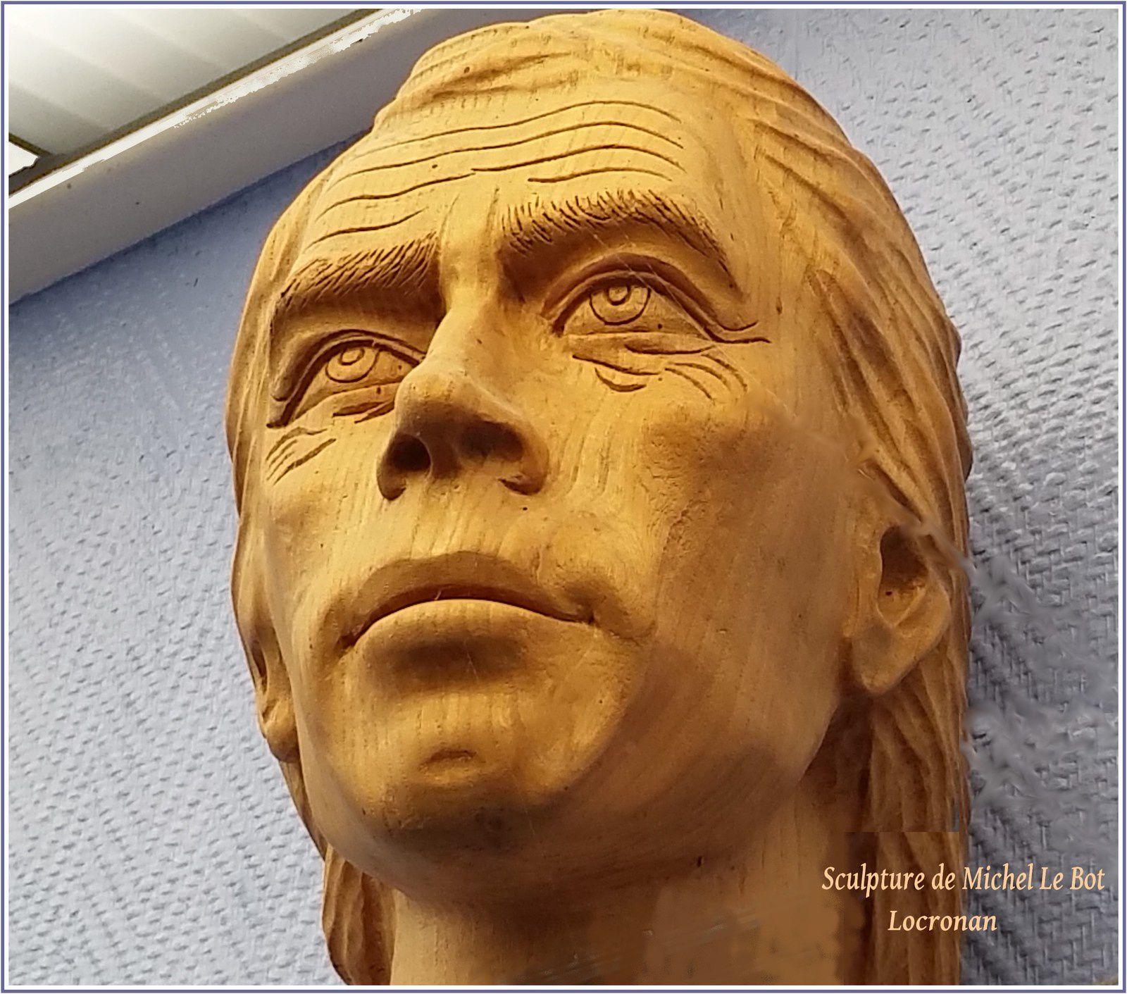 Jacques Brel par le sculpteur Michel le Bot avec l'aimable autorisation de son fils Jean-Yves.