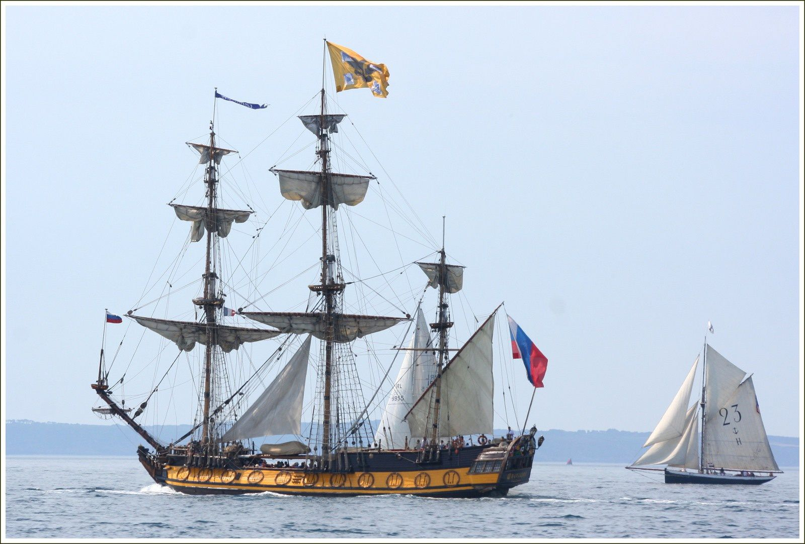 Trois mâts carré russe Shtandart 2016 mer d'Iroise.