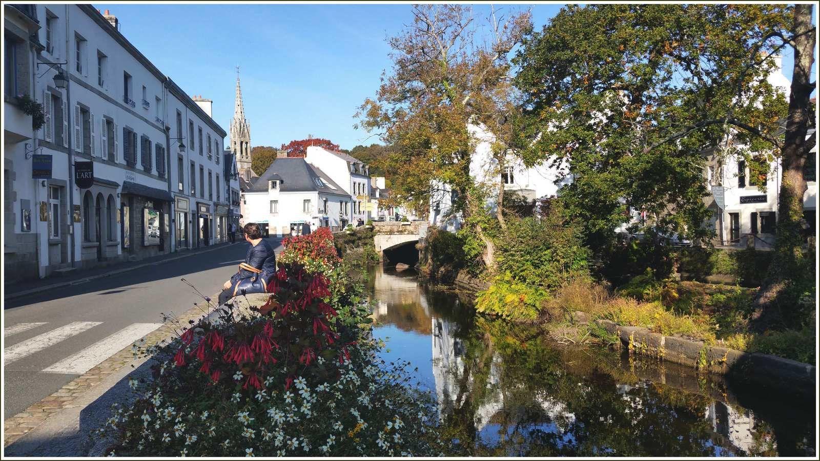 285 - Pont-Aven 30 octobre 2016 Les couleurs de la palette des peintres, balade bucolique sur les rives de la ria de l'Aven Finistère  photos © GeoMar