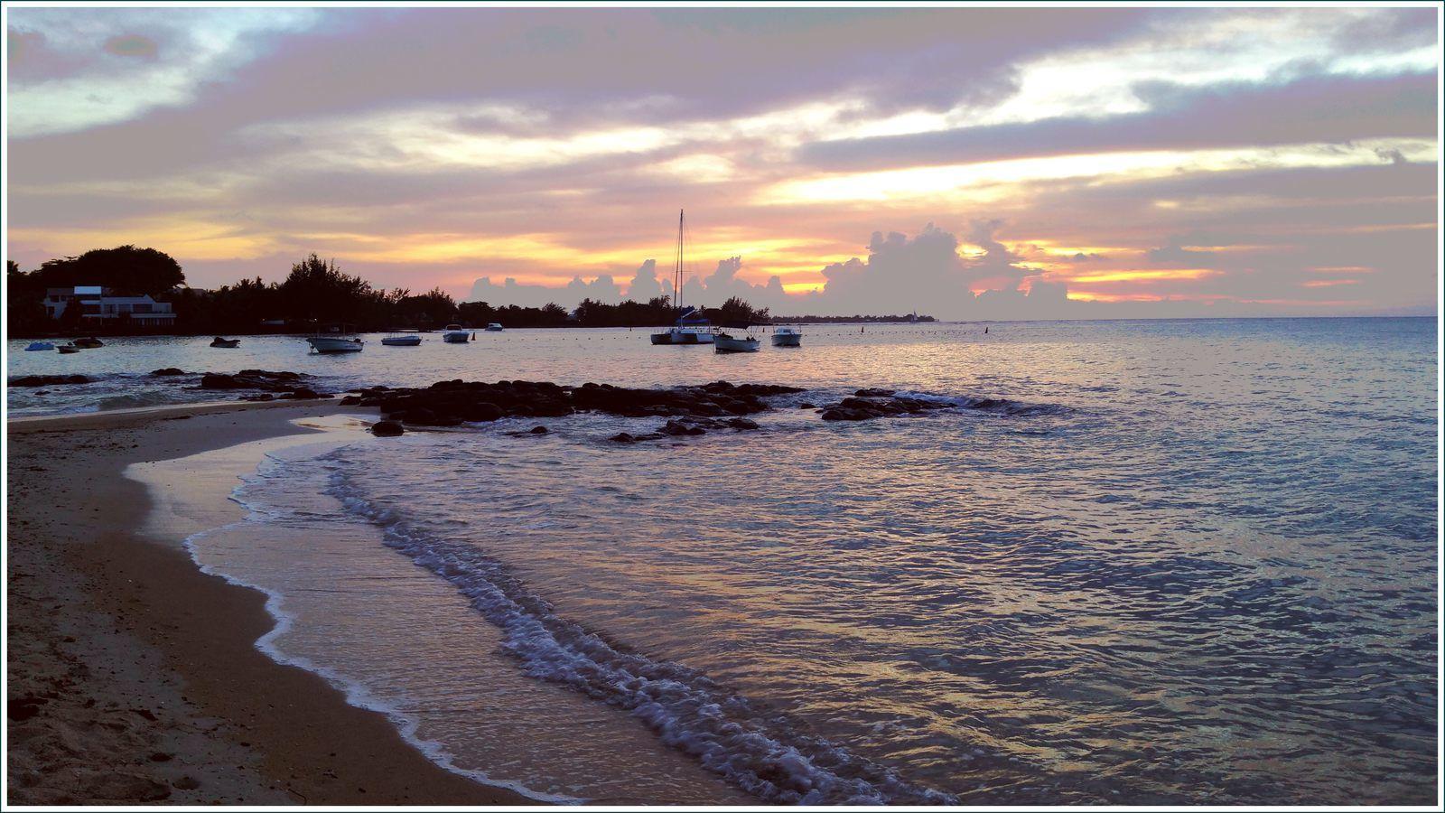 290 - Île Maurice, 24ème, février mars 2017 plages du nord de l'île, couchers de soleil photos en passant, quiétude du soir