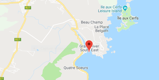 Grande Rivière Sud-Est à l'île Maurice, cliquer sur le lien ci-dessous pour changer d'échelle et accéder aux vues par satellite de Google Maps... Click on the link below...