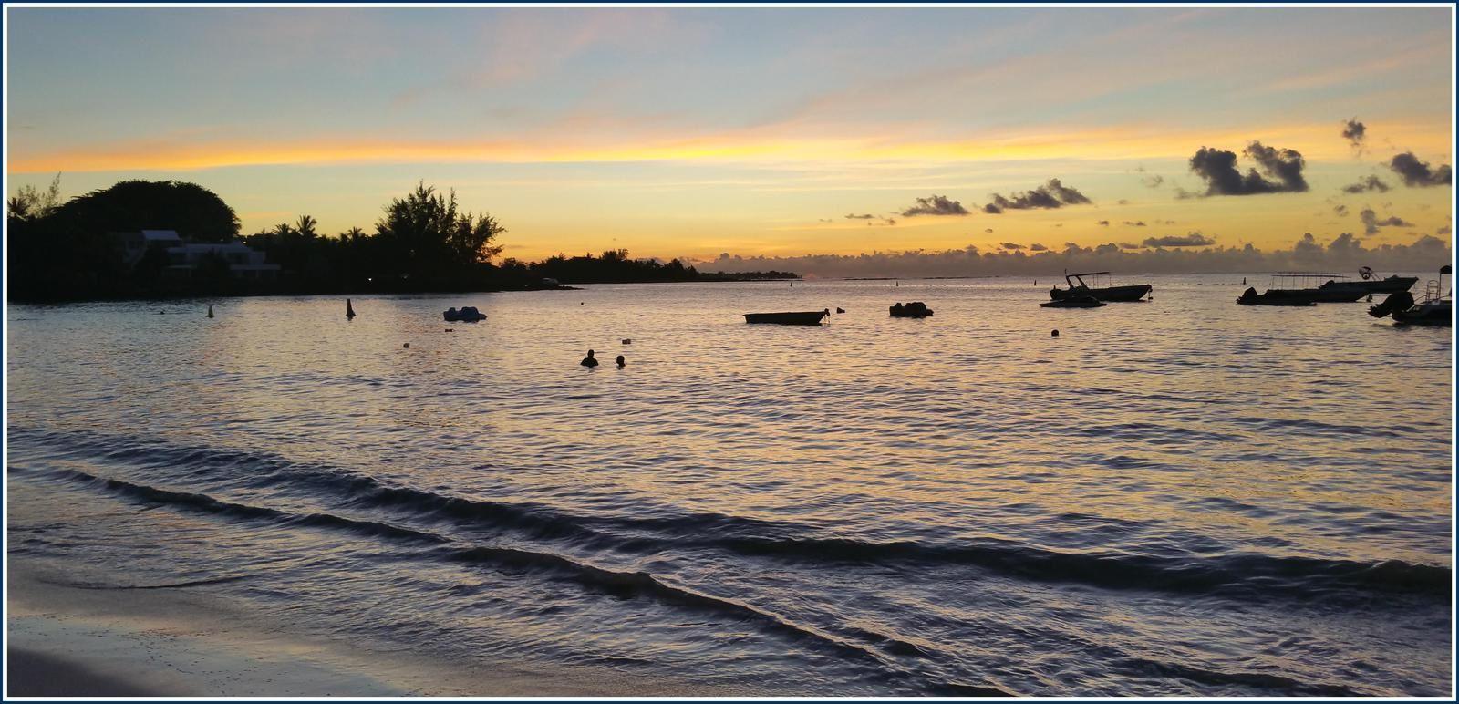 318 - Île Maurice février 2019 photos © GeoMar plages de Péreybère et nord de l'île, variations climatiques, couchers de soleil