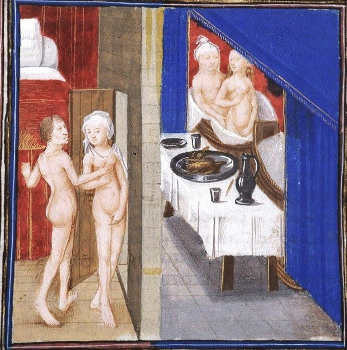 Le bain, au Moyen-âge