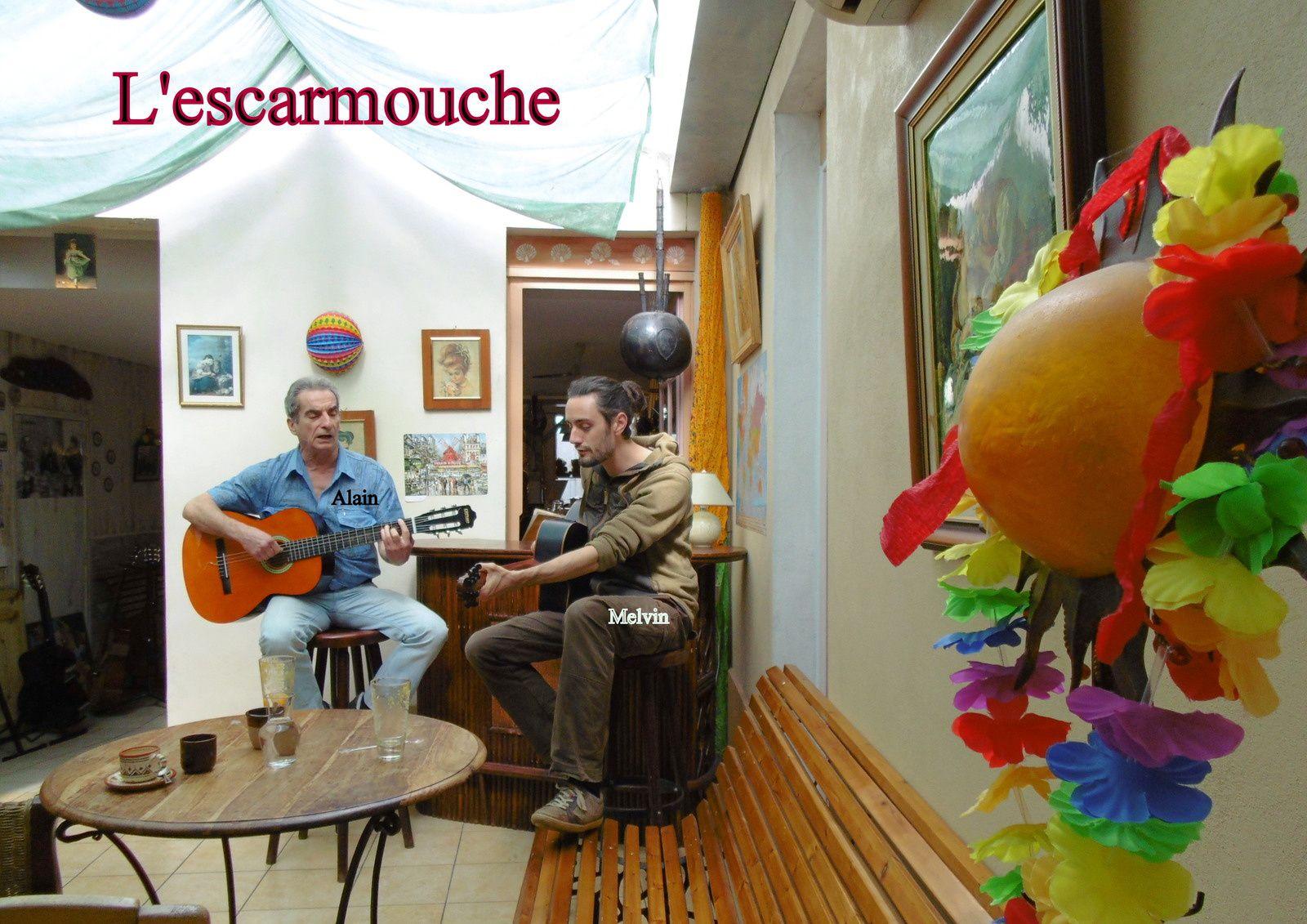 30 - Melvin et Alain.. Le barde authentix Chanteurs et guitaristes à l'Escarmouche. Alerte Rapt Enlèvement.