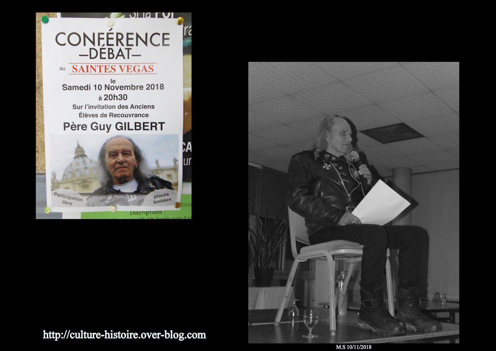 15 - Guy Gilbert sa conférence - Vente aux anchères et Philippe Ravon Expert en art. Saintes à vélo et Sécurité. Aude et aide des Saintais.